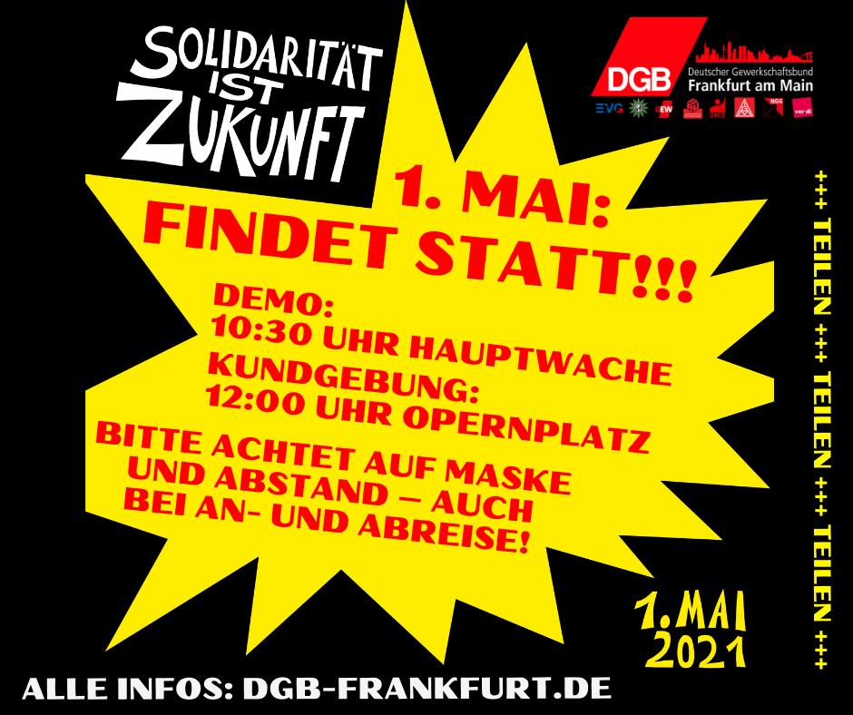 1. Mai 2021 Frankfurt