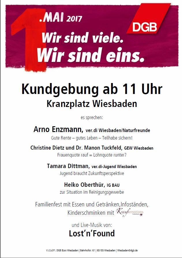 1. Mai in Wiesbaden