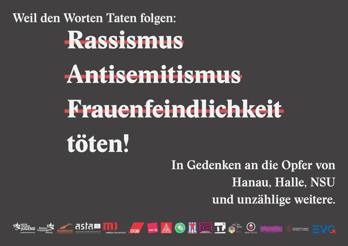 Plakate gegen Rassismus, Antisemitismus und Frauenfeindlichkeit