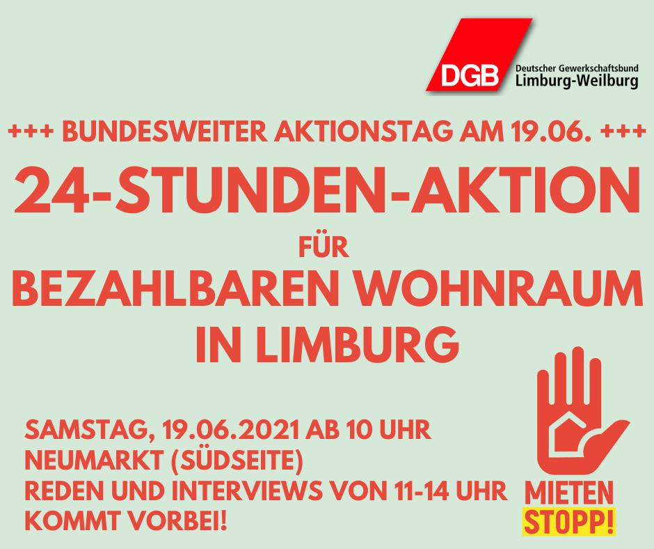 Mietenaktionstag 19.06.2021 in Limburg