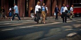 Fußgänger in Frankfurt
