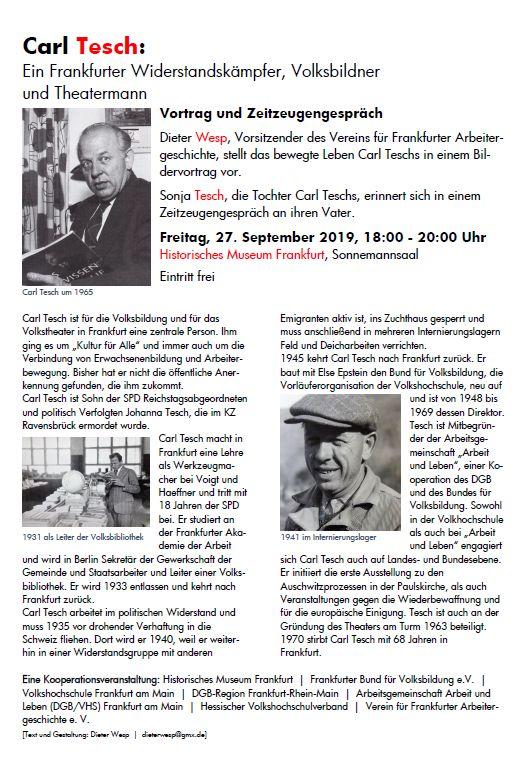 Veranstaltung zu Carl Tesch