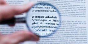Gesetzgebung Leiharbeit