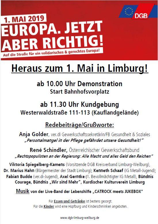 1. Mai 2019 Limburg