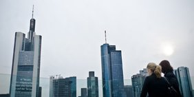Skyline des Frankfurter Bankenviertels