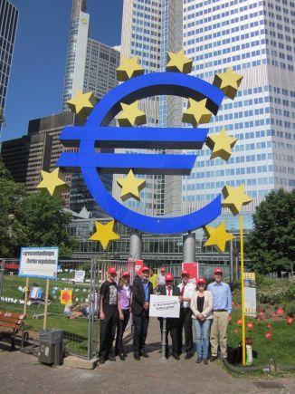 Freiluftpodium Europawahl 2014