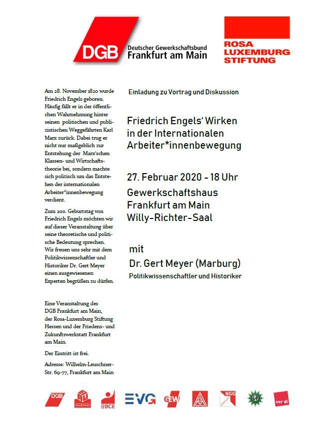 Friedrich Engels Wirken in der Internationalen ArbeiterInnenbewegung