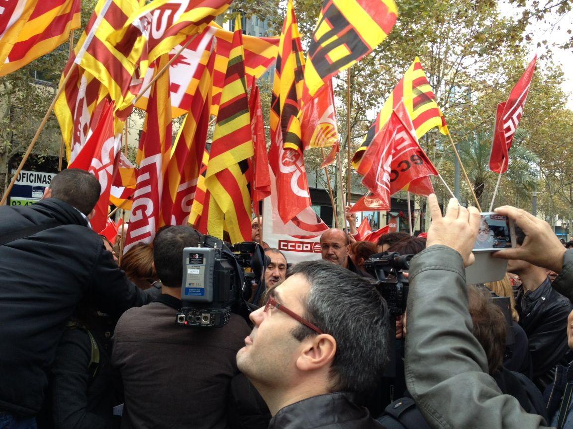 Generalstreik in Barcelona