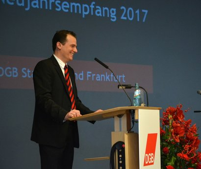 Philipp Jacks beim DGB-Neujahrempfang 2017