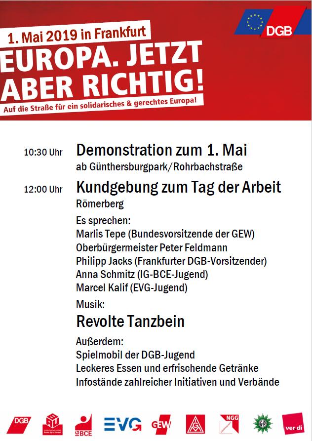 1. Mai 2019 in Frankfurt